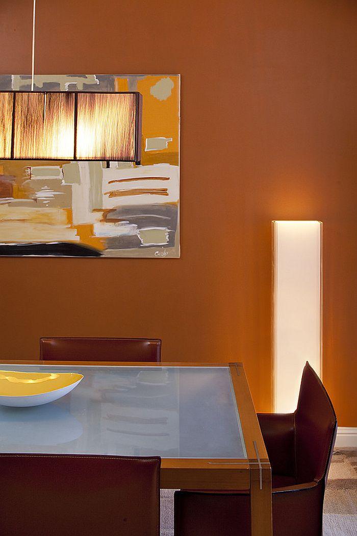 Сочетание оранжевого цвета в интерьере - оранжевый доминирует