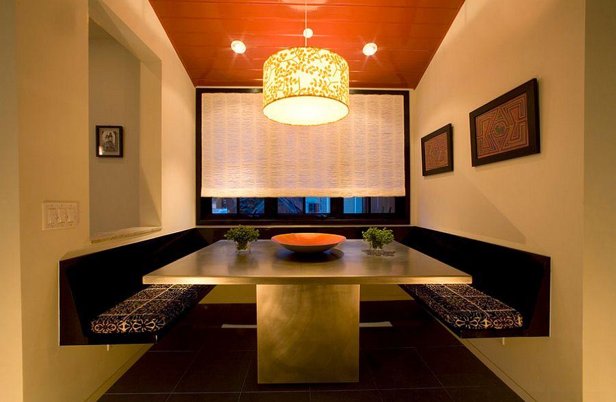 Сочетание оранжевого цвета в интерьере - дом, похожий на ресторан