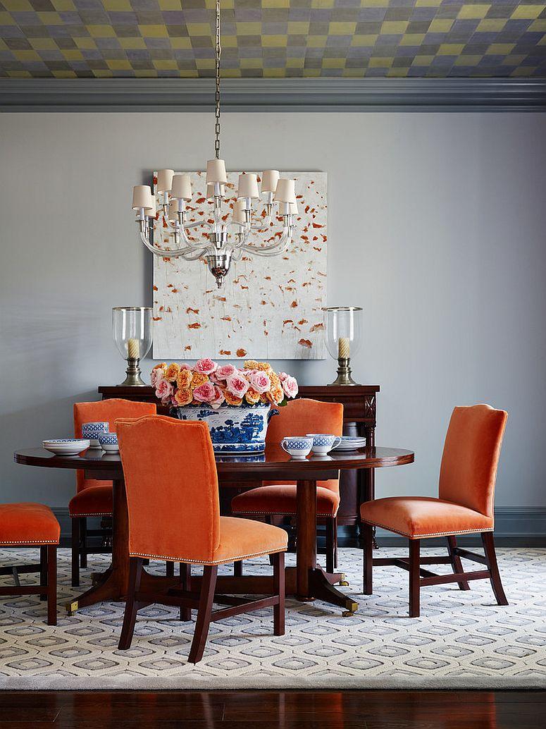 Сочетание оранжевого цвета в интерьере - очарование пляжного стиля