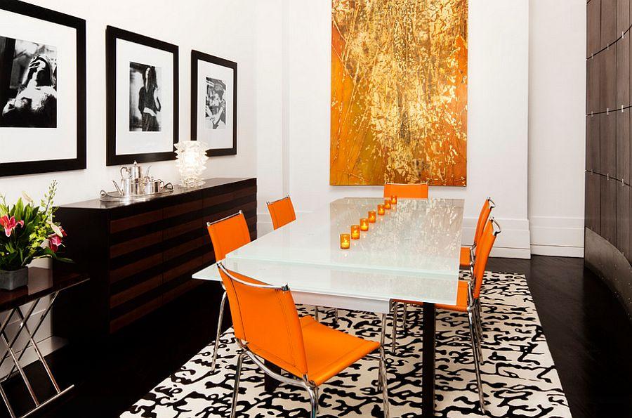 Сочетание оранжевого цвета в интерьере - ослепительный оранжевый