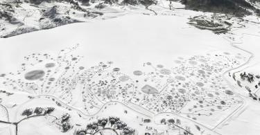 Соня Хинриксен: фрагменты проекта «Снежные рисунки»