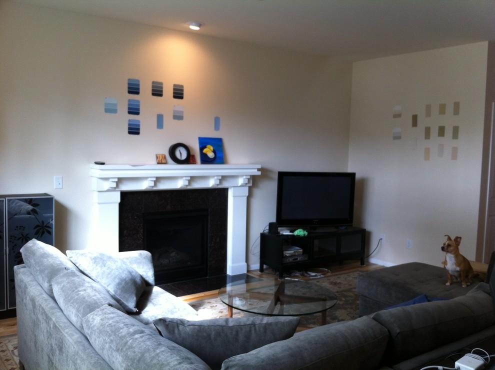 Оформление современного камина в интерьере дома - Фото 23