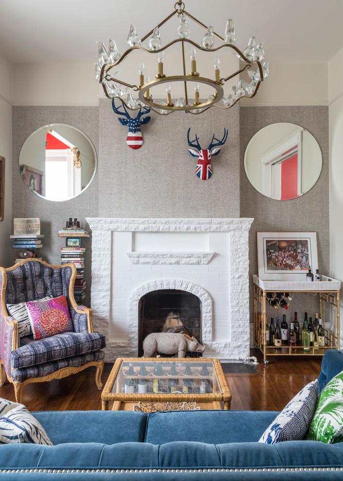 Оформление современного камина в интерьере дома - Фото 30