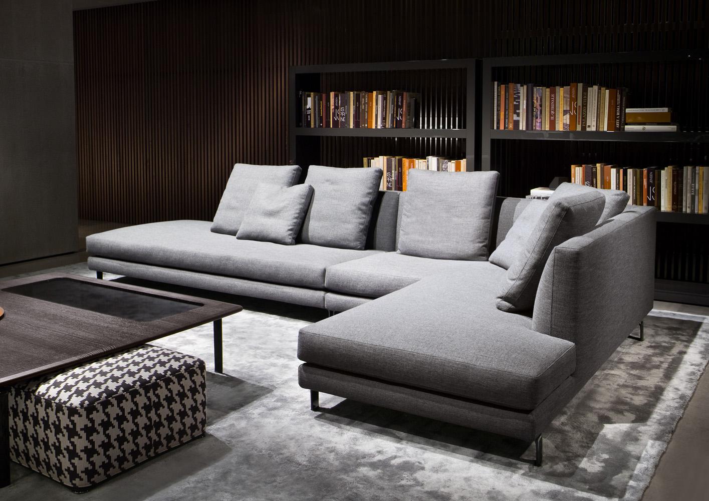 Современные диваны в интерьере гостиной - диван Allen