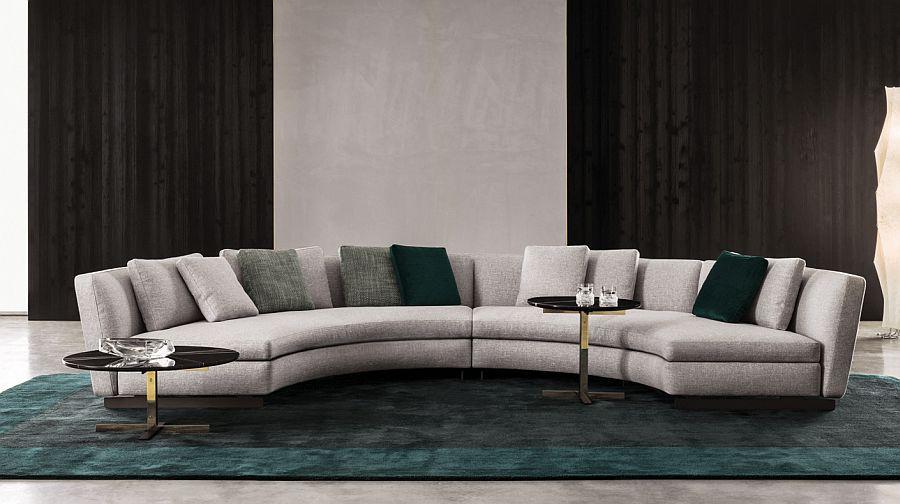 Современные диваны в интерьере гостиной - диван Lounge Seymour. Фото 1