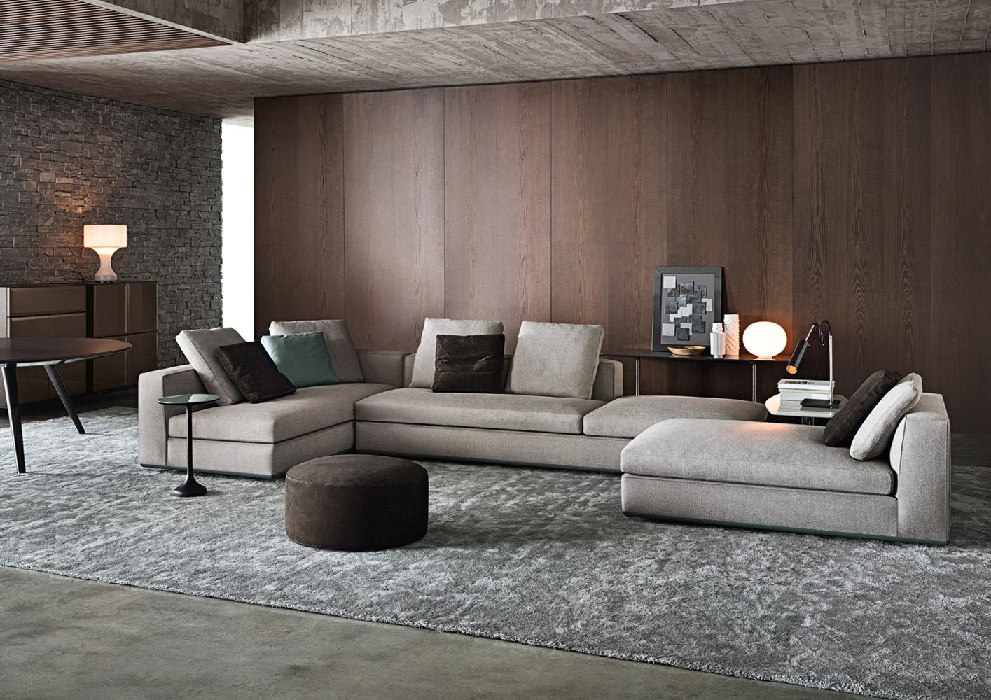 Современные диваны в интерьере гостиной - диван Powell