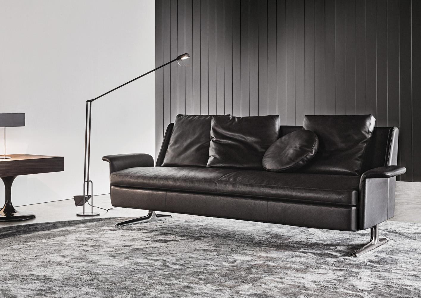 Современные диваны в интерьере гостиной - диван Spencer