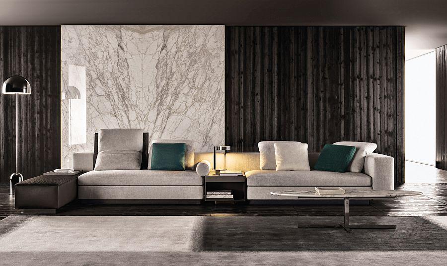 Современные диваны в интерьере гостиной - диван Yang