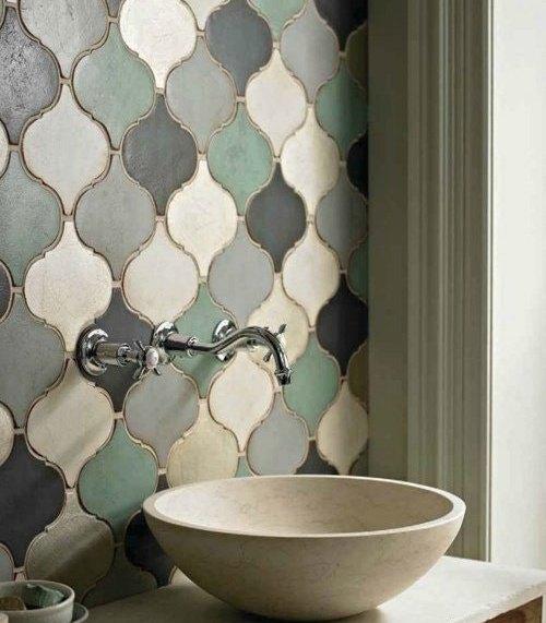 Интересные идеи мозаичной плитки на кухне
