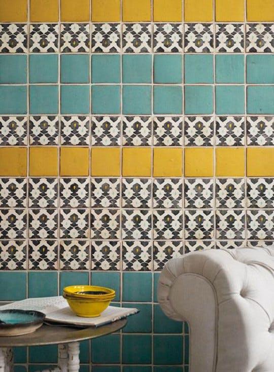 Интересные идеи мозаичной плитки: месопотамские узоры - фото 1