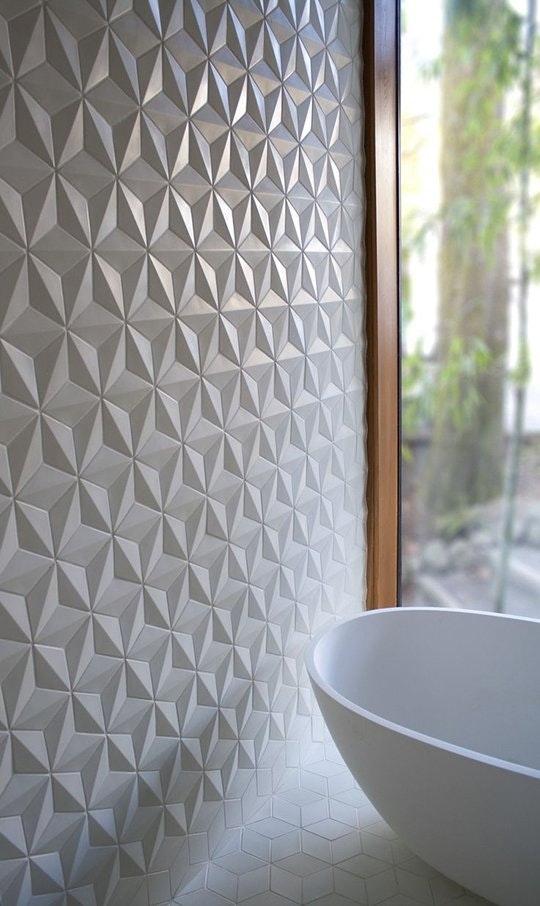 Интересные идеи мозаичной плитки: узоры рельефной плитки