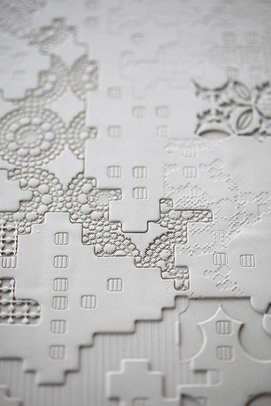 Интересные идеи мозаичной плитки: рельефная - фото 2