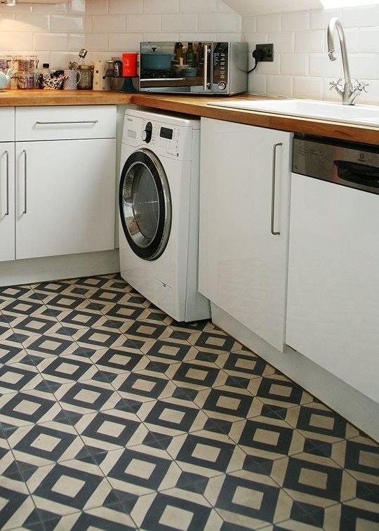 Интересные идеи мозаичной плитки: геометрическая - фото 1