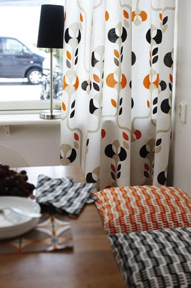 Тканевые шторы от Pira Inredning