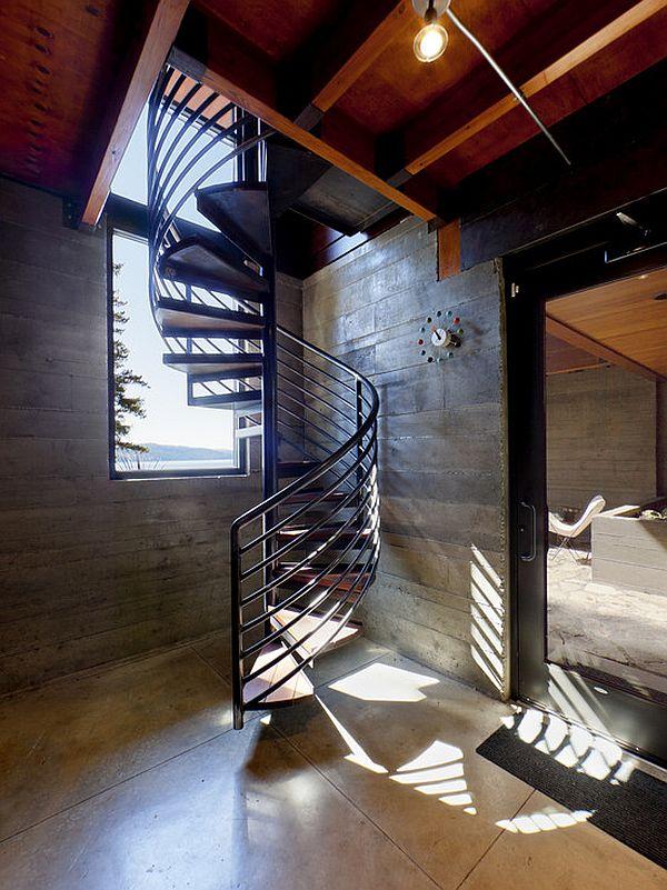 Дизайн лестницы в подвал