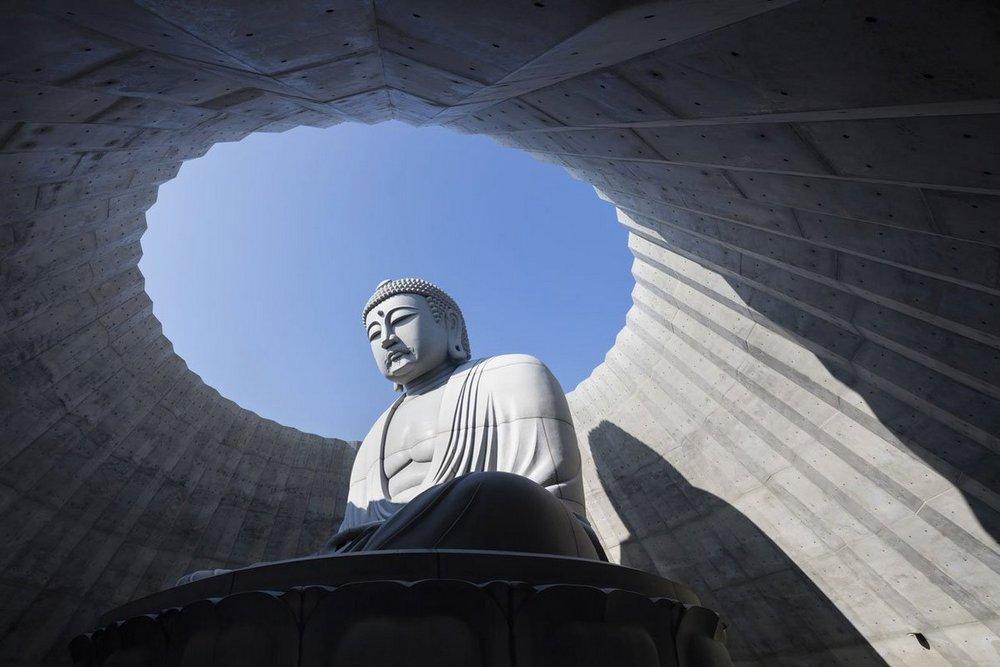 Тадао Андо: гигантская статуя Будды внутри лавандового холма в Саппоро