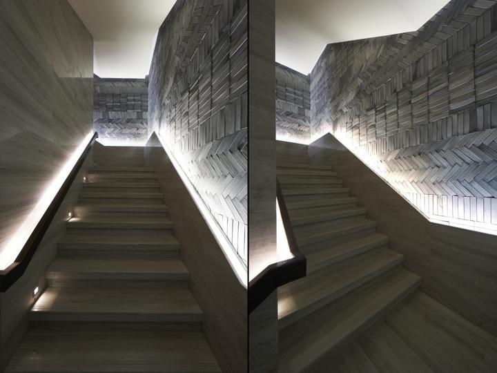 Современная лестница между прошлым и будущим от Prism design