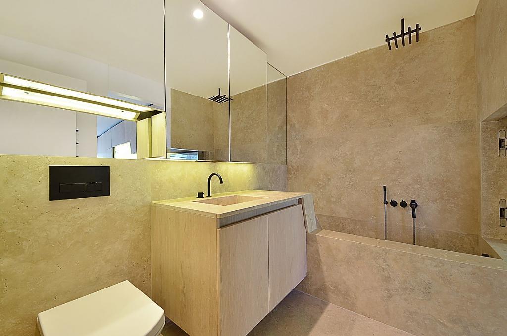Если вы не боитесь острых углов - тогда этот дизайн ванной комнаты определённо ваш!