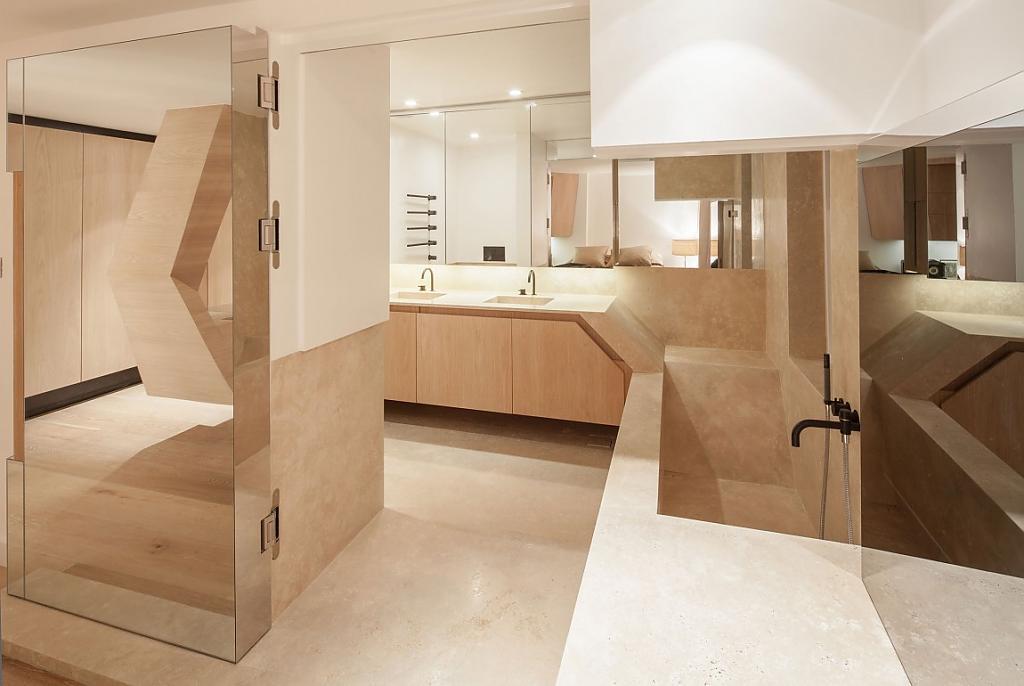 Ванная комната - пастельный кубизм создаёт невероятное впечатление