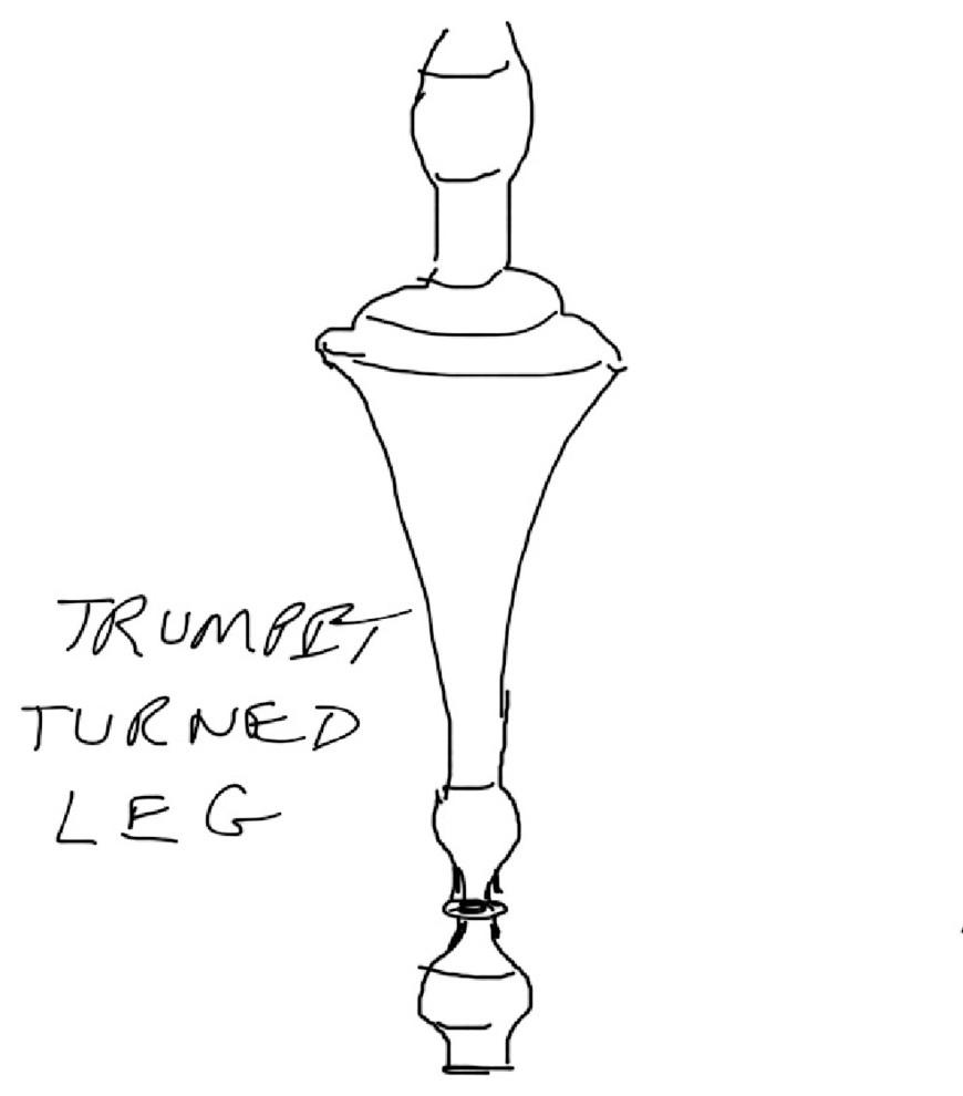 Эскиз деревянной ножки