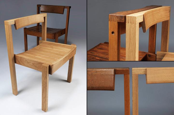 Деревянные стулья от дизайнера