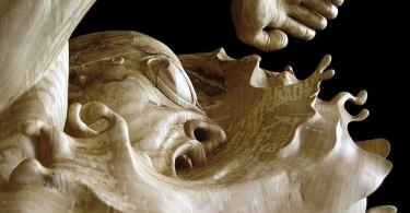 Полные жизни деревянные скульптуры Стефани Рокнак