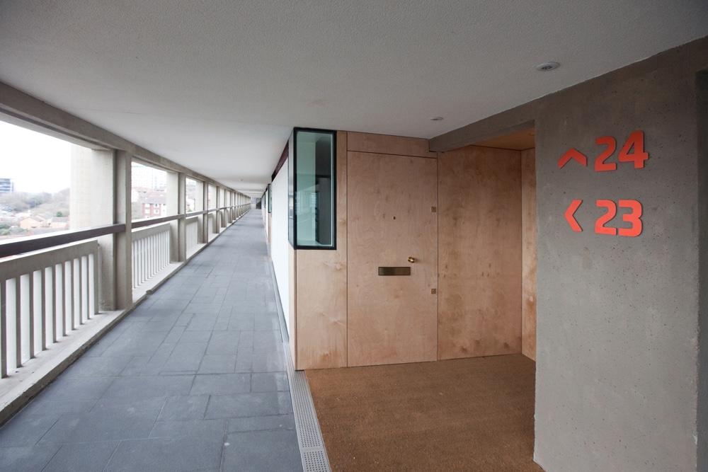Брутализм в архитектуре - интерьер Park Hill