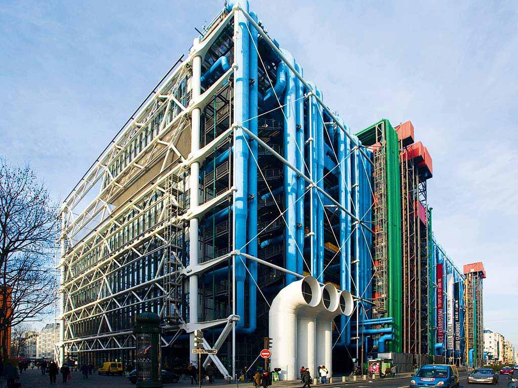 Стиль хай-тек в архитектуре Парижа