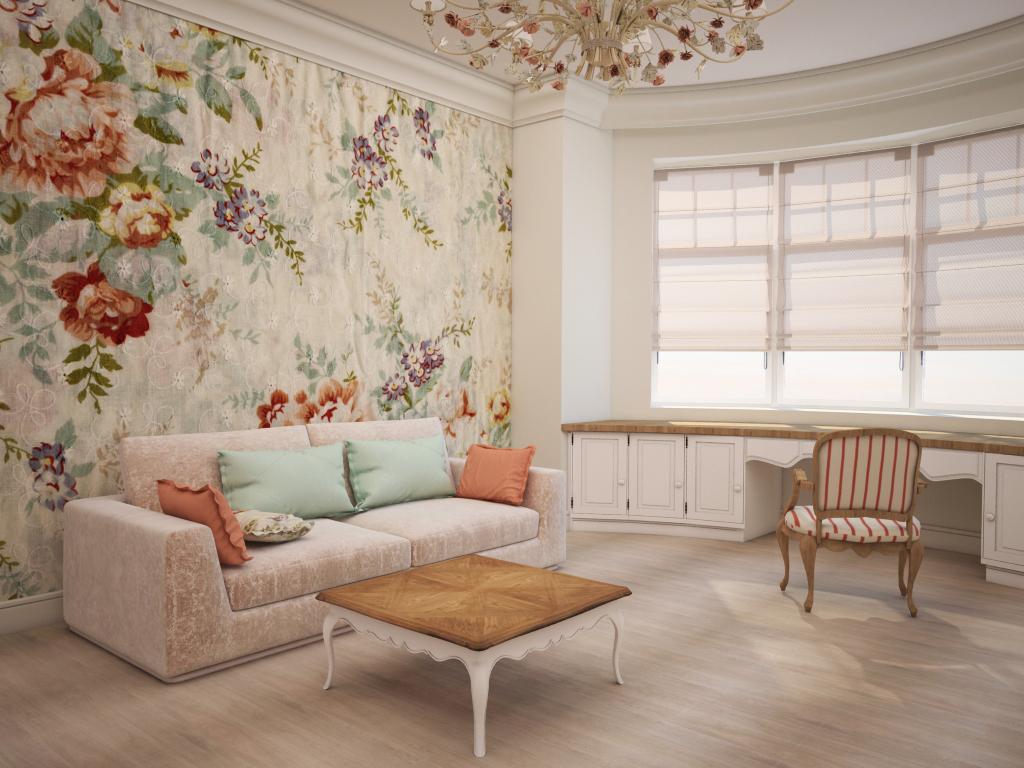 Стиль Прованс в интерьере: цветочный принт