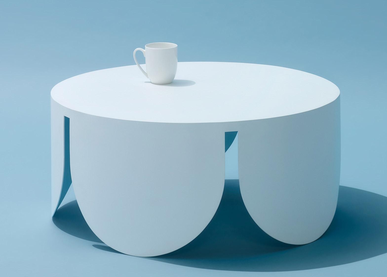 Кофейный стол с арками в белом цвете - Фото 2
