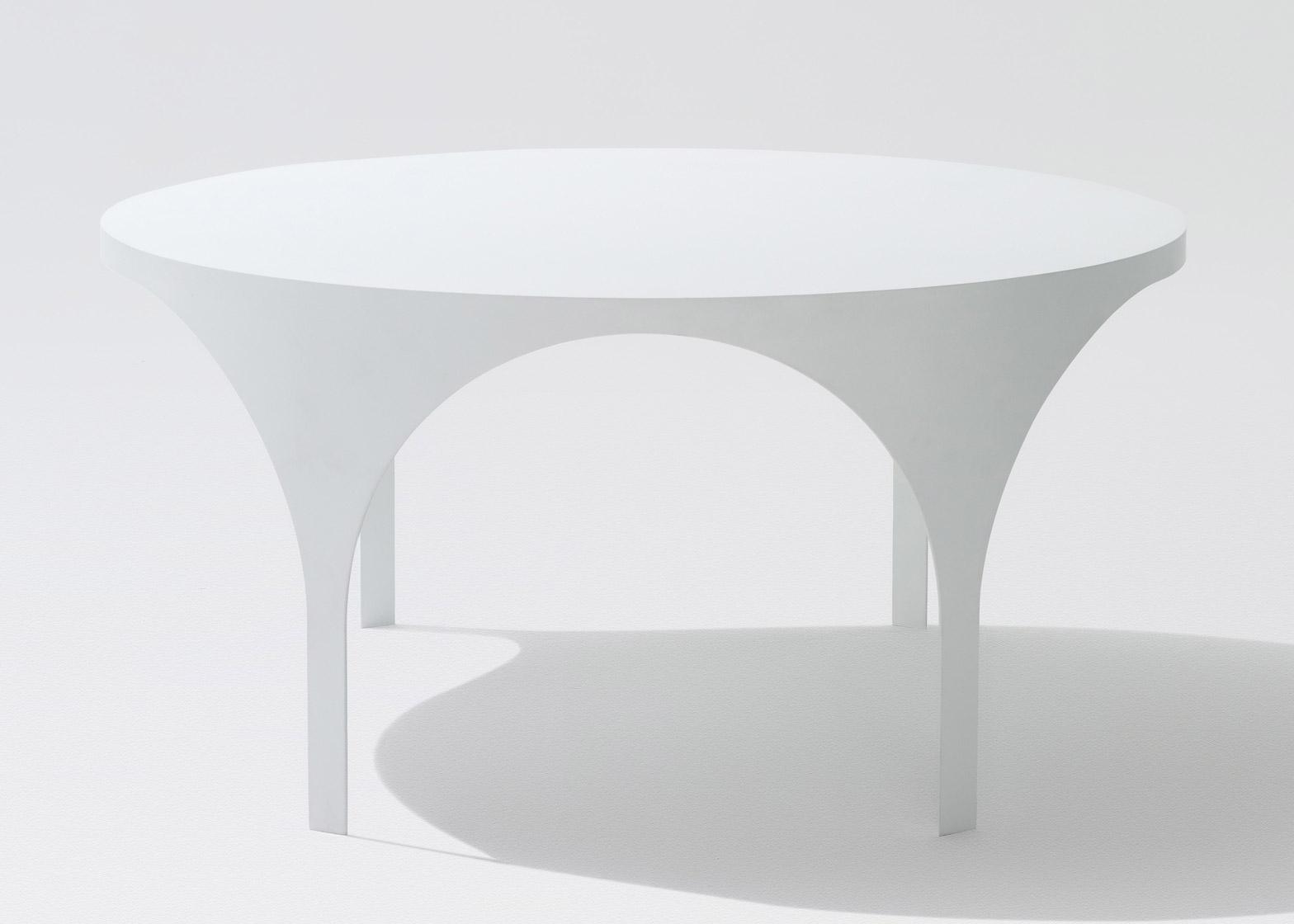 Кофейный стол с арками в белом цвете - Фото 3