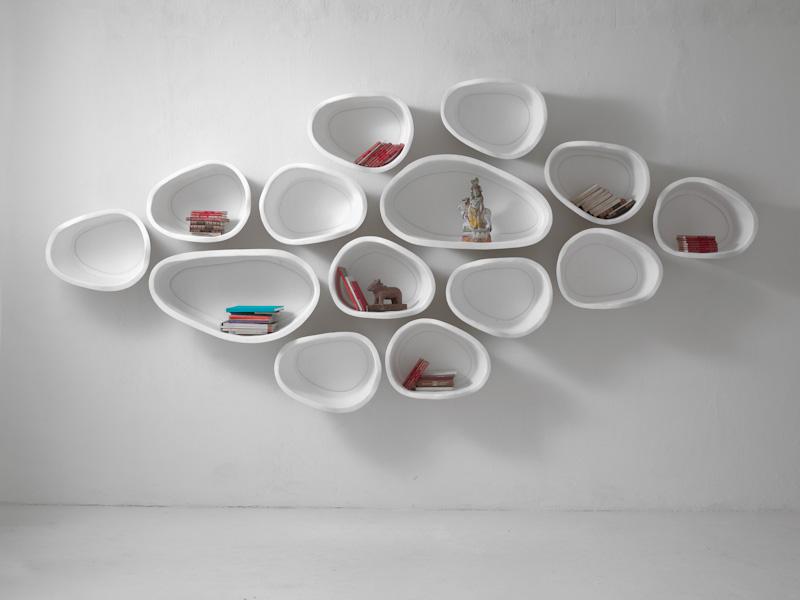 Белые полки оригинальной формы в интерьере - Фото 2