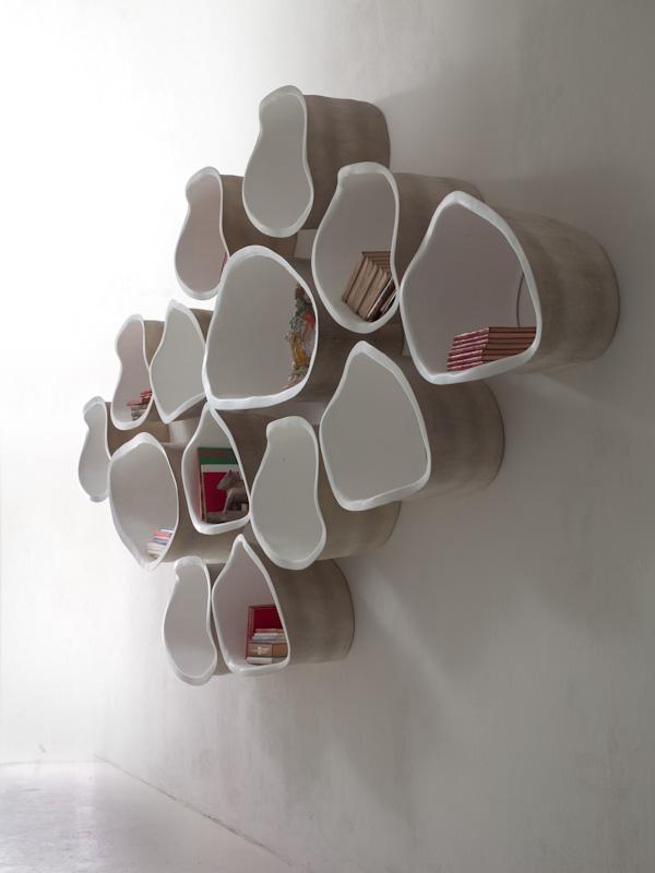 Белые полки оригинальной формы в интерьере - Фото 5