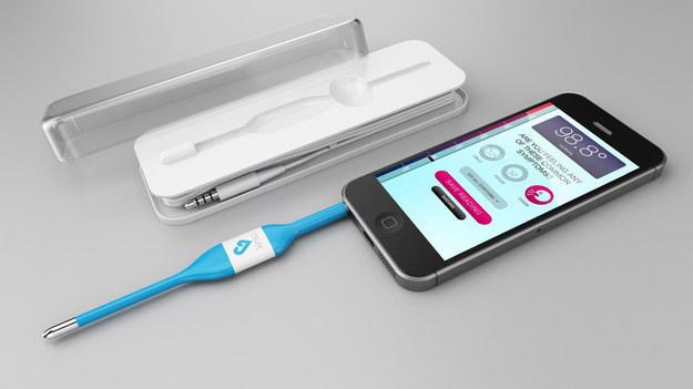 Термометр, который работает с помощью смартфона и дает консультации по поводу лечения
