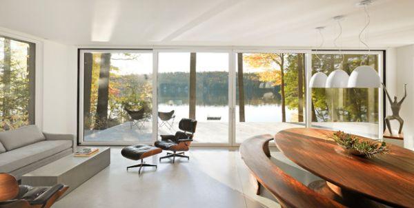 Замечательные раздвижные стеклянные двери в доме