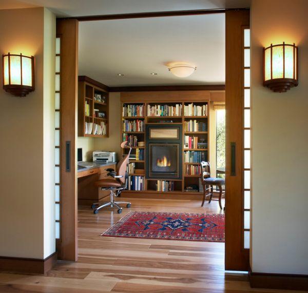 Очаровательные раздвижные стеклянные двери в доме