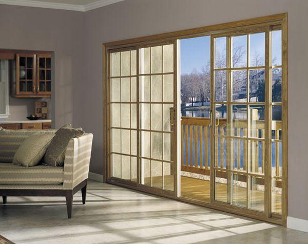 Отличные раздвижные стеклянные двери в доме