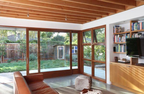 Бесподобные раздвижные стеклянные двери в доме