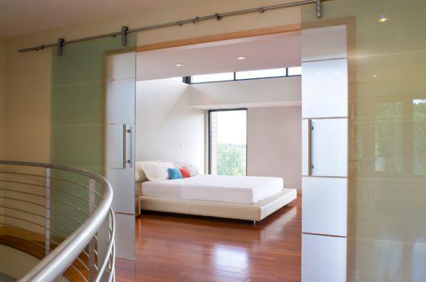 Сногсшибательные раздвижные стеклянные двери в доме