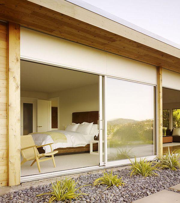 Потрясающие раздвижные стеклянные двери в доме