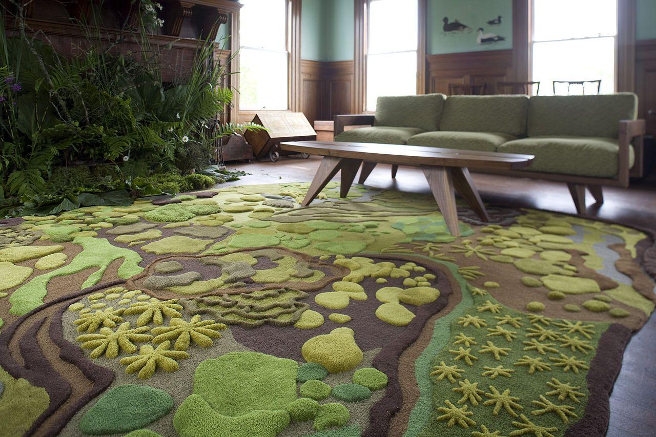 Ковёр превратил гостиную в расслабляющие джунгли