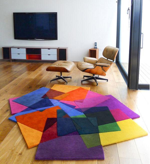 Яркие квадраты создают ошеломляющий 3D-эффект
