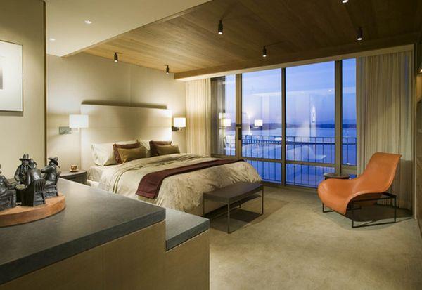 Уникальный дизайн интерьера спальной комнаты