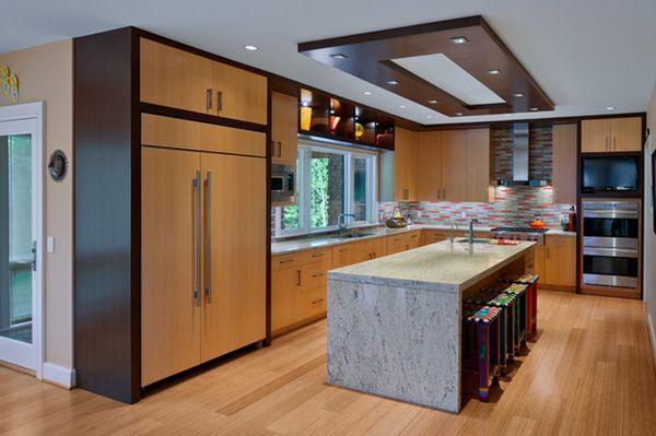 Красивый дизайн интерьера кухонной зоны