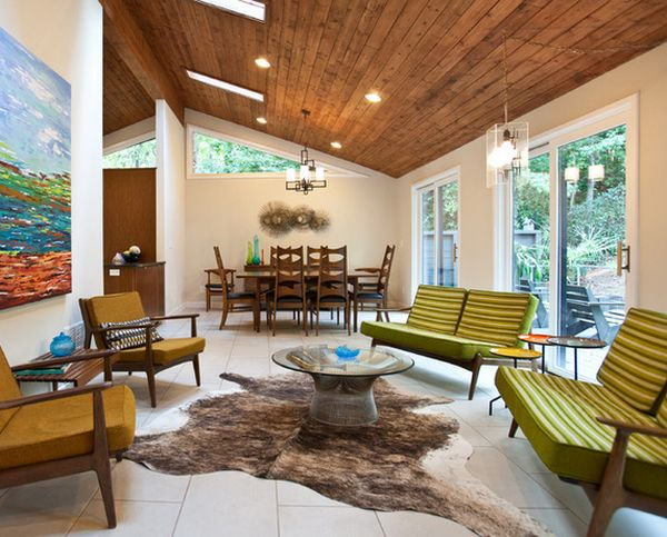 Замечательный дизайн интерьера гостиной зоны