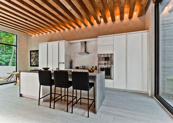 Яркий дизайн интерьера кухонной зоны