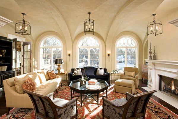 Шикарный дизайн интерьера гостиной зоны