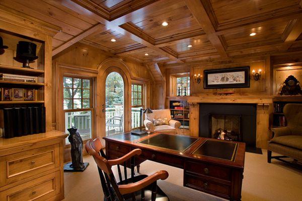 Яркий дизайн интерьера кабинета