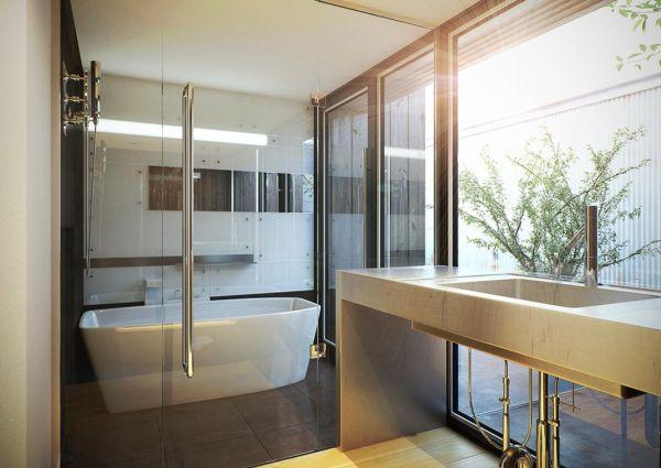 Бесподобная ванная комната в японском стиле