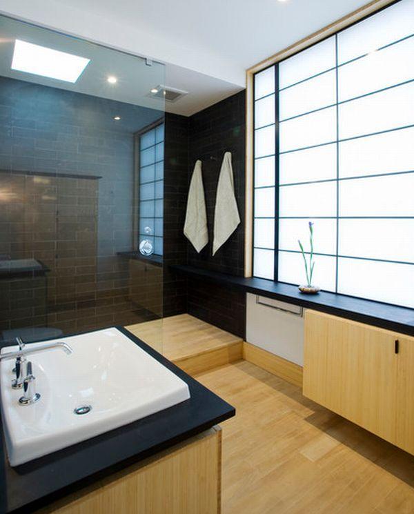 Уникальная ванная комната в японском стиле
